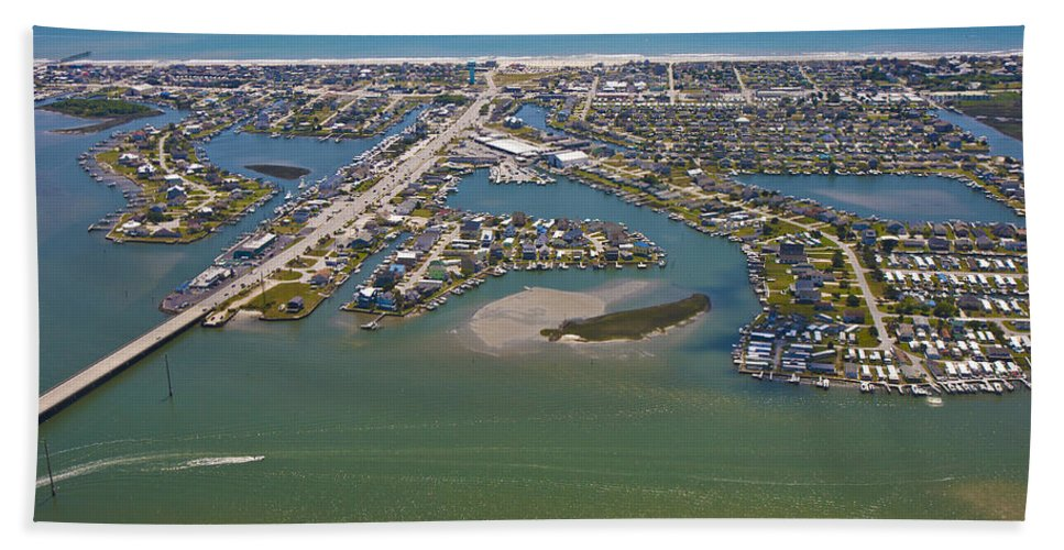 Aerial Beach Towel featuring the photograph East Coast Aerial by Betsy Knapp