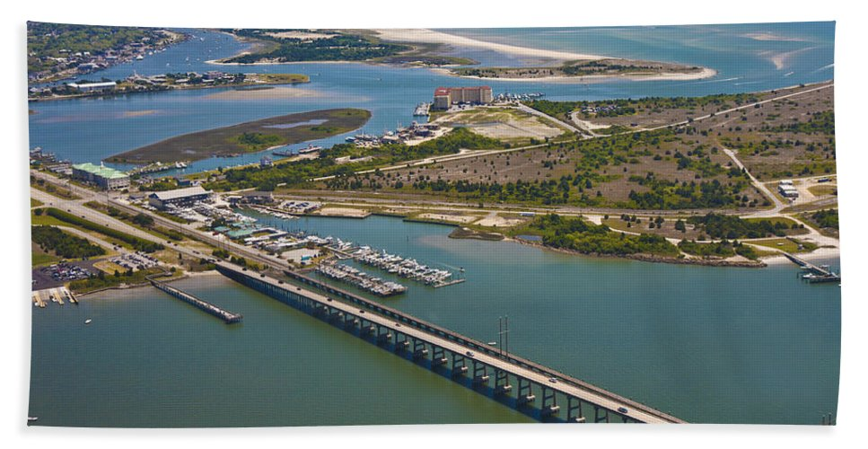 Atlantic Beach Towel featuring the photograph East Coast Aerial II by Betsy Knapp