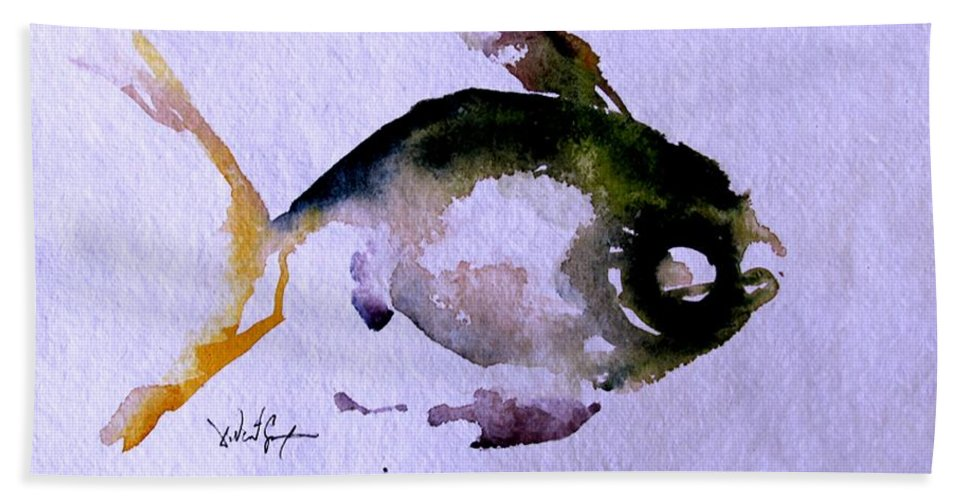 Fish Beach Towel featuring the painting Echo Fish Fourteen by J Vincent Scarpace