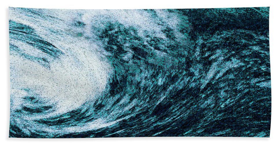 Beach Towel featuring the digital art Edge Of Disaster by Tim Sladek