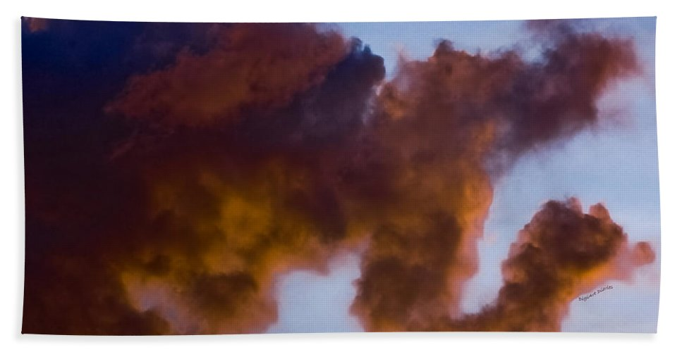 Clouds Beach Towel featuring the photograph Elephant Cloud by DigiArt Diaries by Vicky B Fuller