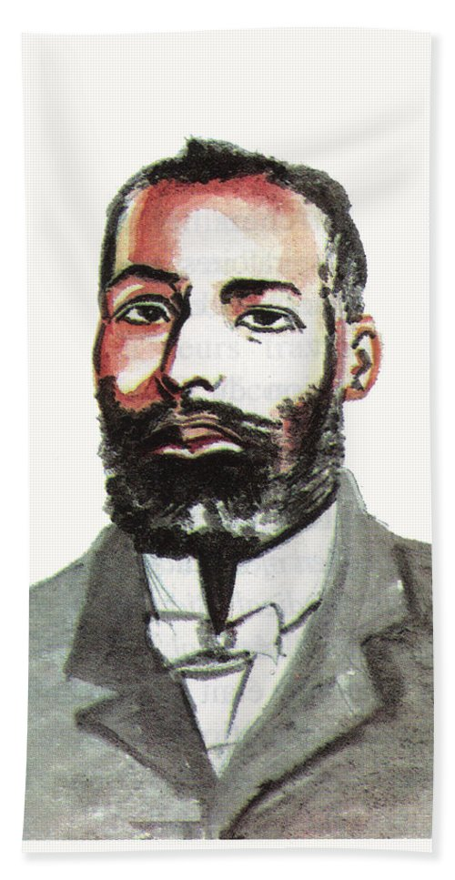 Portraits Beach Towel featuring the painting Elijah Mccoy by Emmanuel Baliyanga