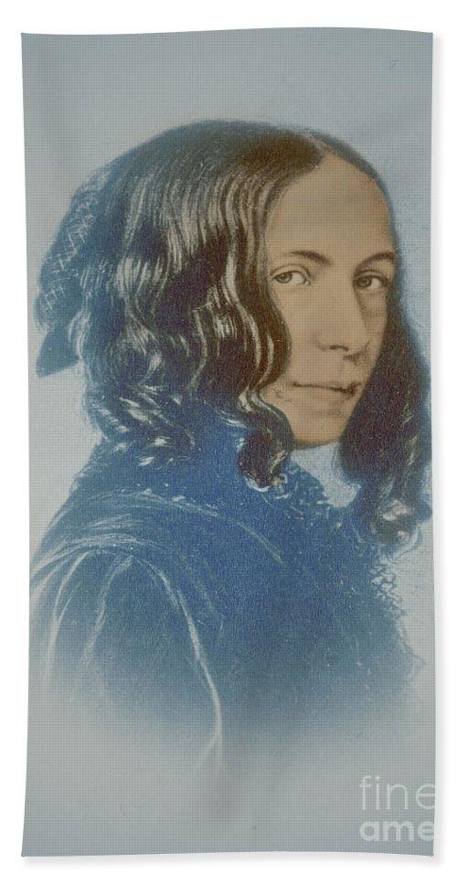 Elizabeth Barett Browning Beach Towel featuring the photograph Elizabeth Barrett Browning, English Poet by Photo Researchers