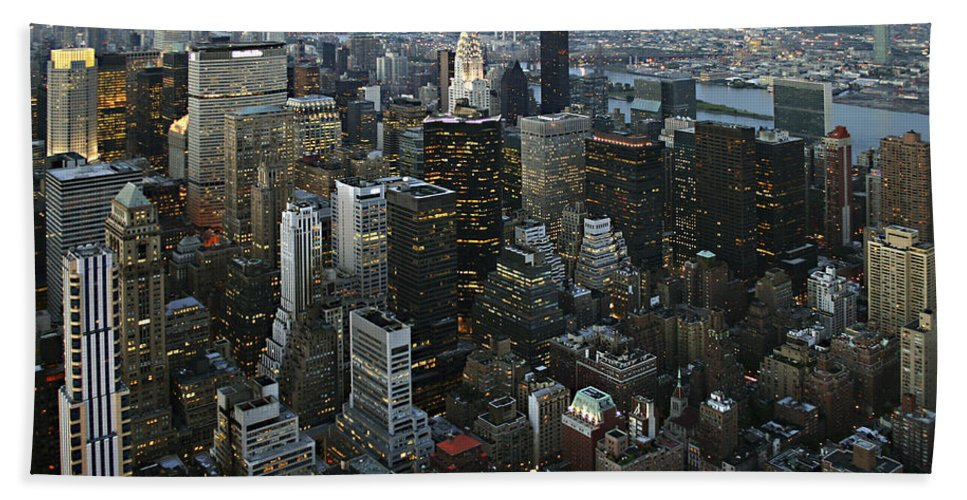 Empire's View Beach Towel featuring the photograph Empire's View by Wes and Dotty Weber
