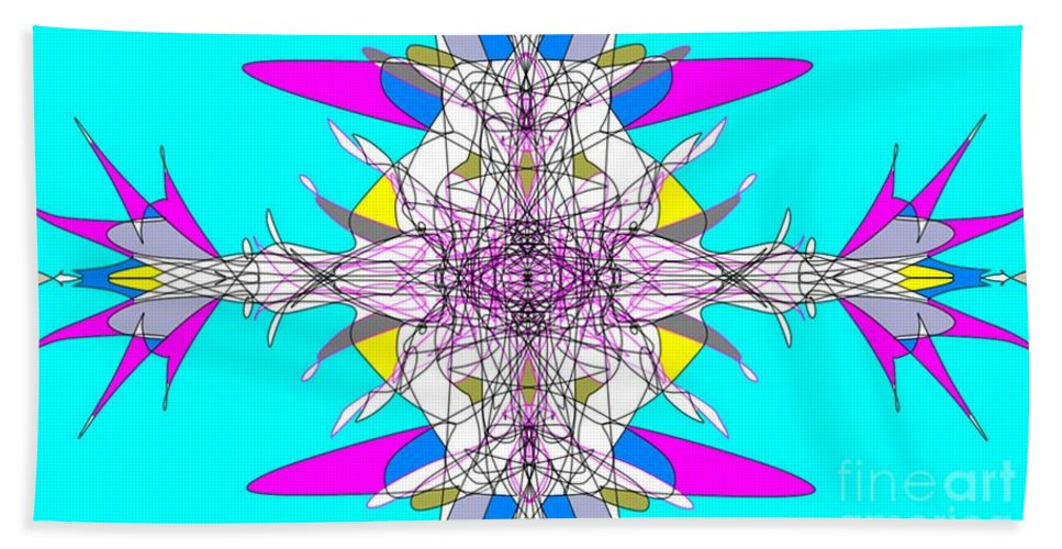 Fractal Beach Towel featuring the digital art Emulsification by George Pedro