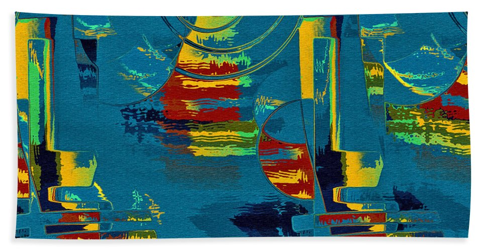 Abstract Beach Towel featuring the digital art En Formes 03 by Aimelle