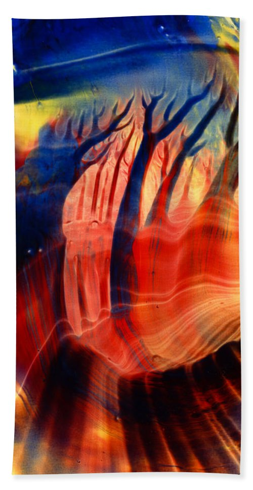 Encaustic Beach Towel featuring the painting Encaustic 467 by Hakon Soreide