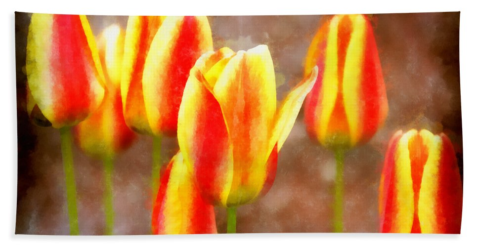 Multicolored Beach Towel featuring the photograph Enchanting by Angelina Vick