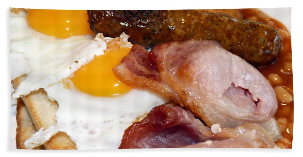 English Beach Towel featuring the photograph English Breakfast by Carla Parris