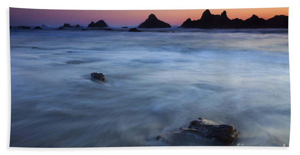 Seal Rock Beach Towel featuring the photograph Engulfed By The Tides by Mike Dawson