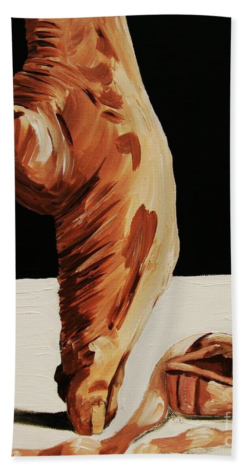 Ballet Beach Towel featuring the painting Ephemeral by Cris Motta