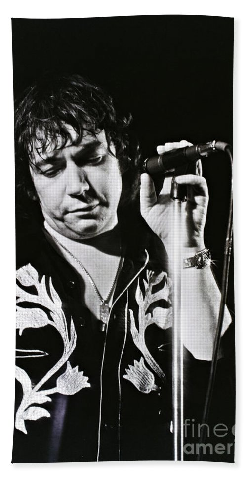 Eric Burdon Beach Towel featuring the photograph Eric Burdon In Concert-2 by Casper Cammeraat