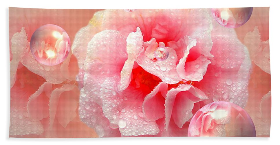 Camelia Beach Towel featuring the photograph Essence Of Sophie by Joyce Dickens