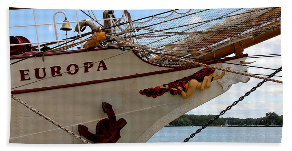 Ship Beach Towel featuring the photograph Europa by Andrew Fare