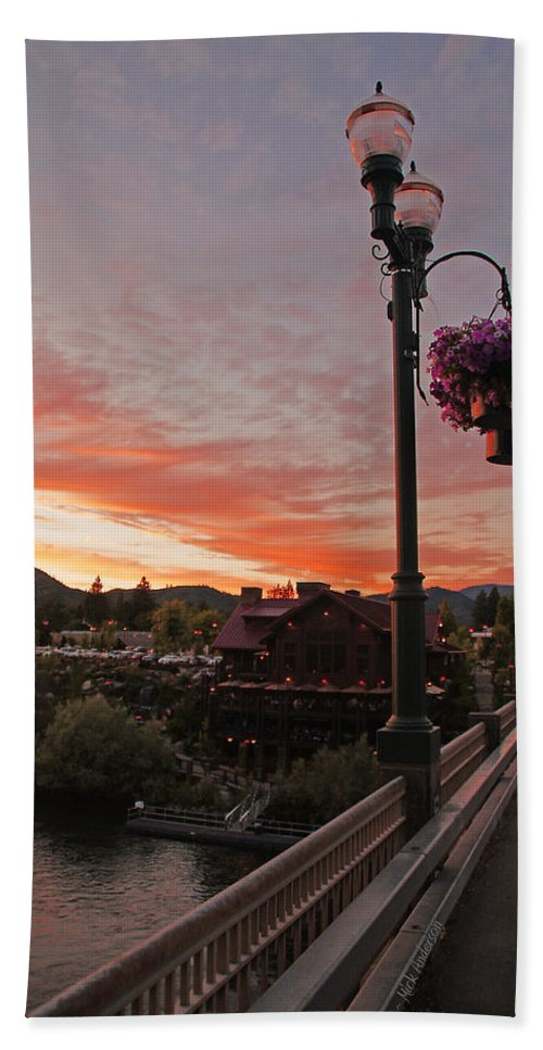 Evening Beach Towel featuring the photograph Evening Color Over Taprock by Mick Anderson