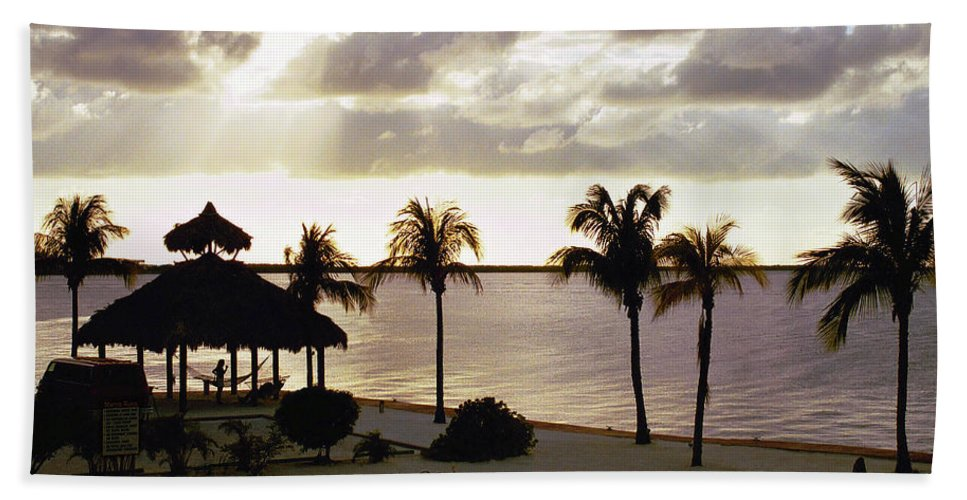 Evening Beach Towel featuring the photograph Evening In The Keys - Key Largo by John Waclo