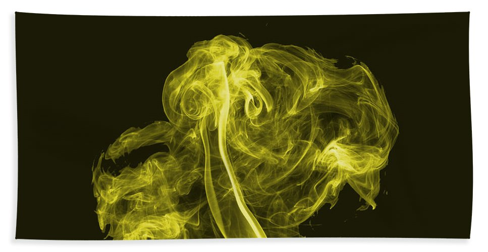 Smoke Trail Beach Towel featuring the photograph Explosive Yellow by Steve Purnell