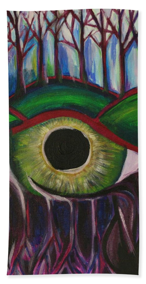 Eye Beach Towel featuring the painting Eye In The Sky by Kate Fortin