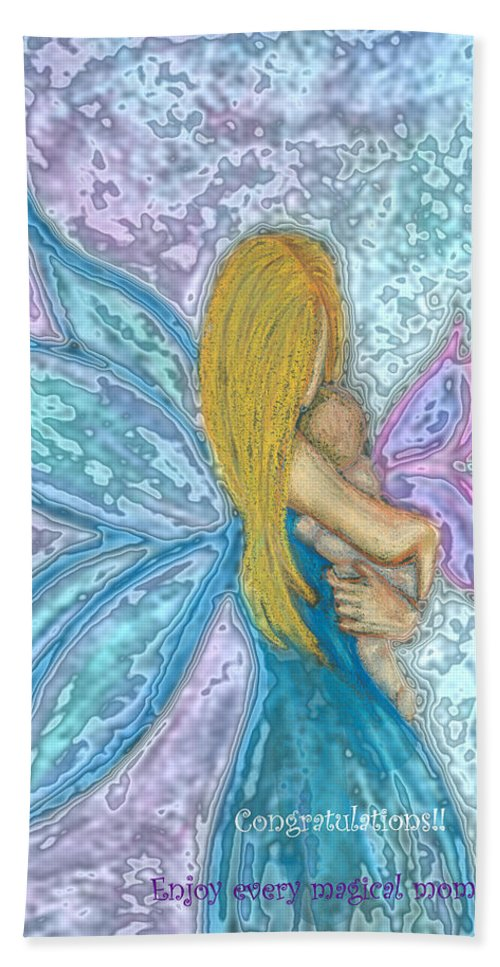 New Baby Beach Towel featuring the photograph Faery Child by Diana Haronis