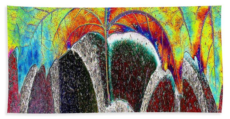 Fall Beach Towel featuring the digital art Fall Has Fallen by Tim Allen