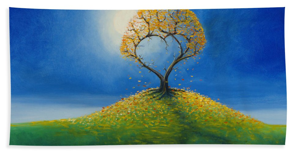 Love Beach Towel featuring the painting Falling For You 2 by Jerry McElroy