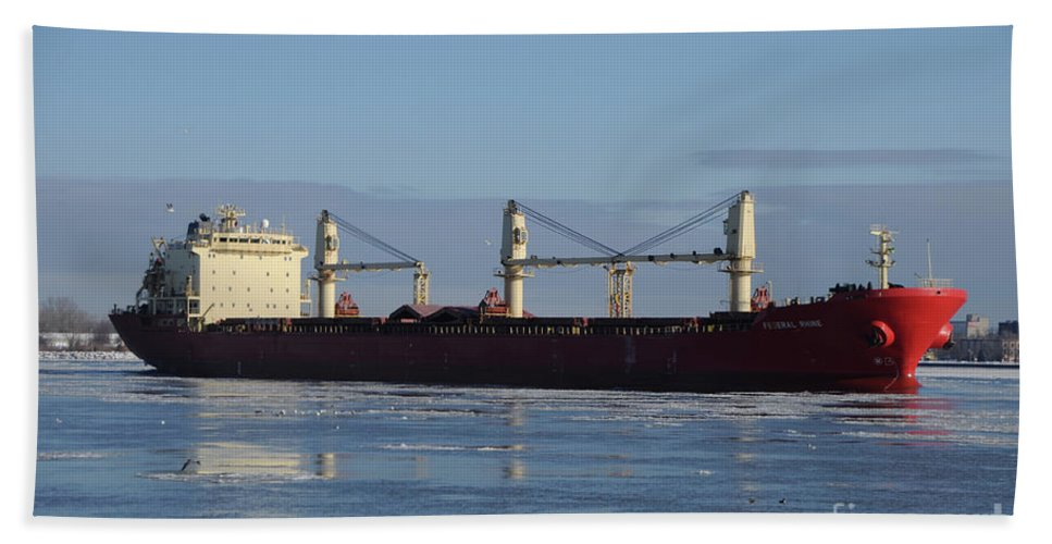 Ship Beach Towel featuring the photograph Federal Phine by Ronald Grogan