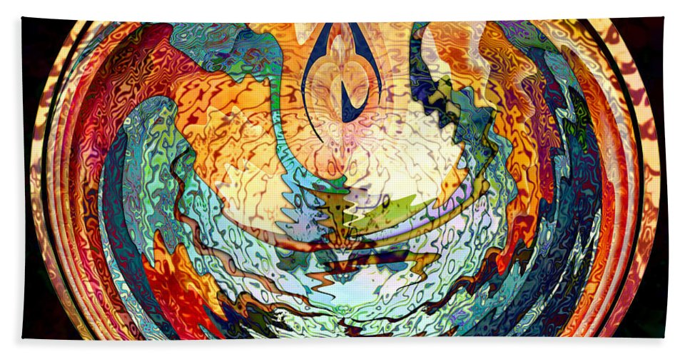 Fire Beach Towel featuring the digital art Fire And Water by Barbara Berney