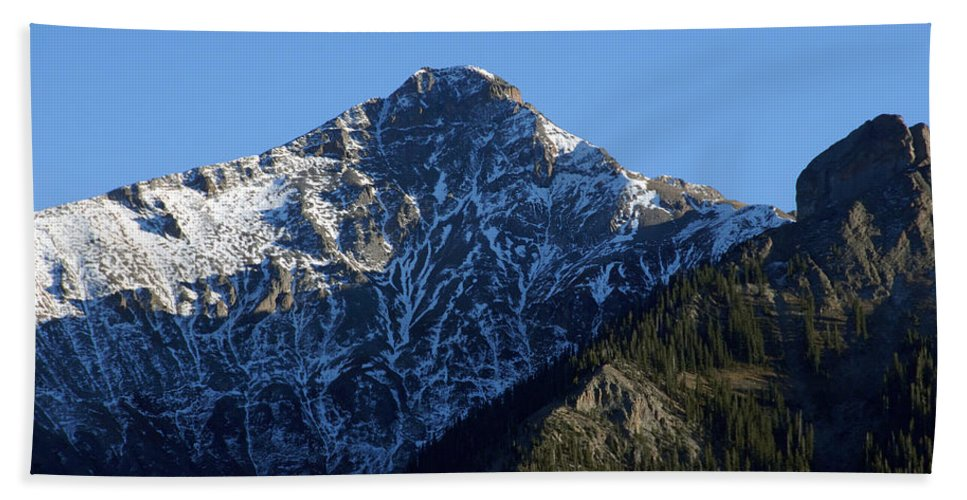 Fine Art Photography Beach Towel featuring the photograph First Snow by David Lee Thompson
