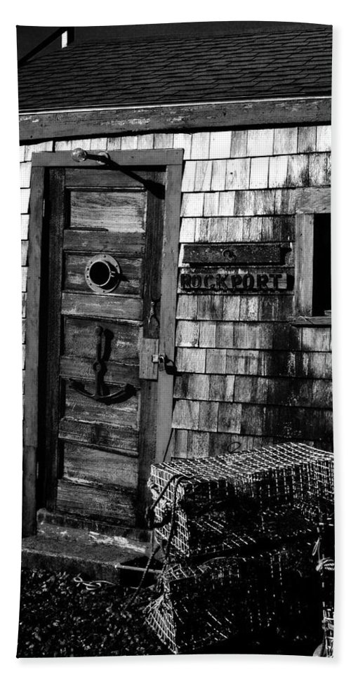 Rockport Beach Towel featuring the photograph Fishing Shack by Mark Valentine