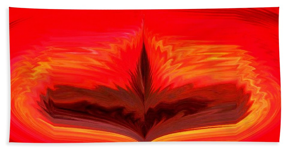 Flame Beach Towel featuring the digital art Flame 3 by Melvin Moon