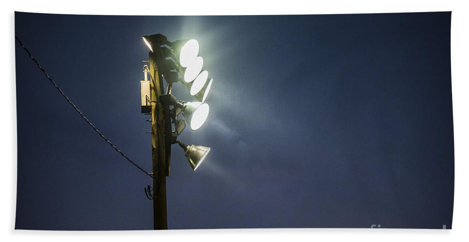 Act Beach Towel featuring the photograph Floodlights by John Greim