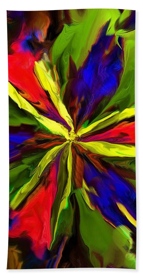Fine Art Beach Towel featuring the digital art Floral Abstraction 090312 by David Lane