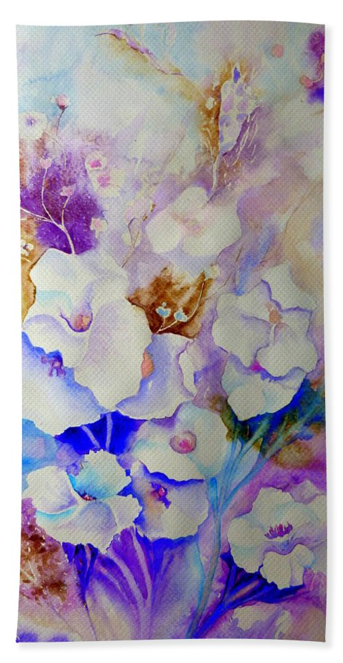 Floral Beach Towel featuring the painting Floral Bouquet by Carole Spandau