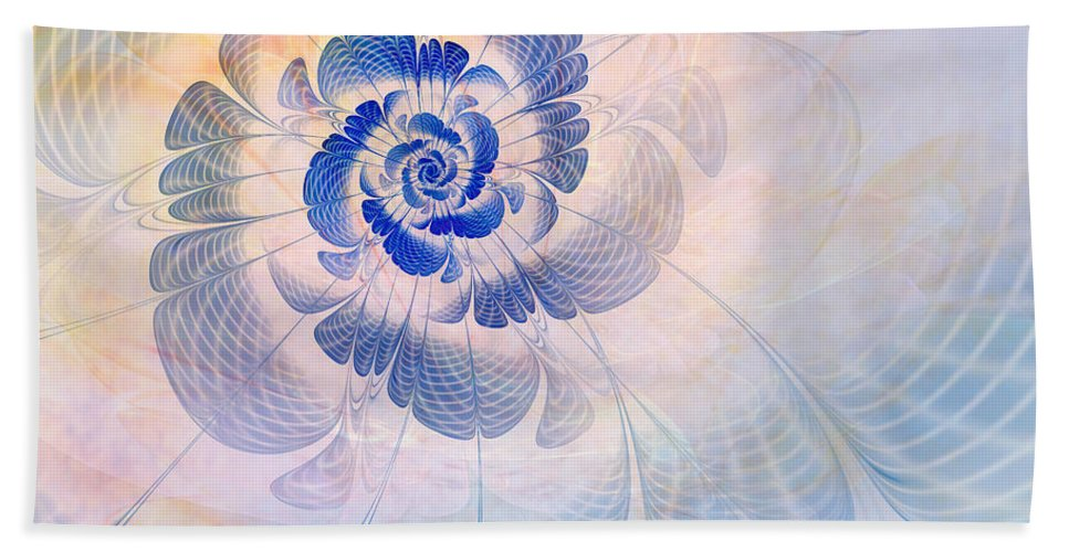 Flower Beach Towel featuring the digital art Floral Impression by John Edwards