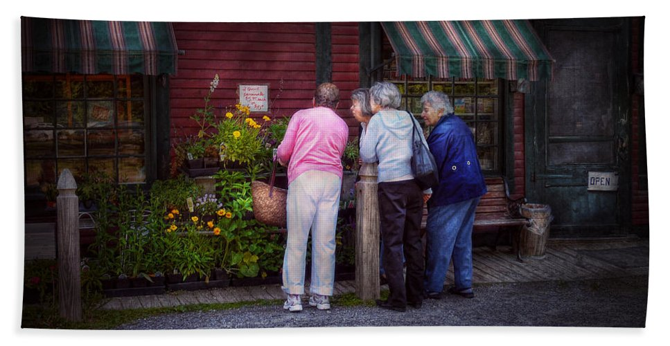 Flower Beach Towel featuring the photograph Flower - The Garden Club by Mike Savad