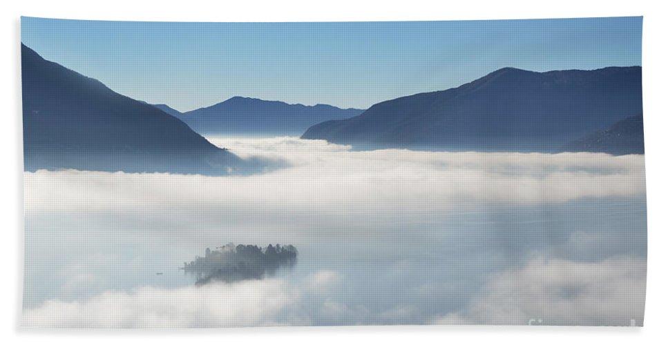 Fog Beach Towel featuring the photograph Fog Over Islands by Mats Silvan
