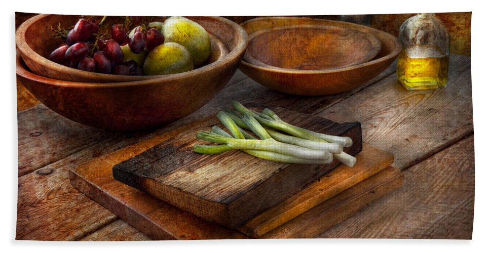 Chef Beach Towel featuring the photograph Food - Vegetable - Garden Variety by Mike Savad
