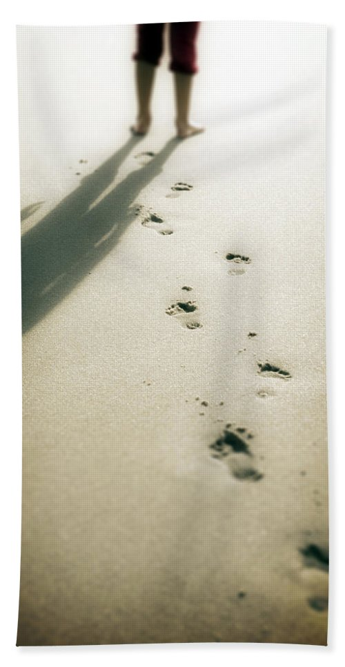 Footprint Beach Towel featuring the photograph Footsteps by Joana Kruse