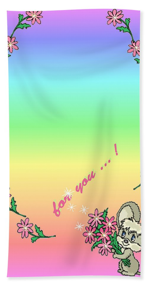 Greeting Card Beach Towel featuring the digital art For You.... by Ronel Broderick