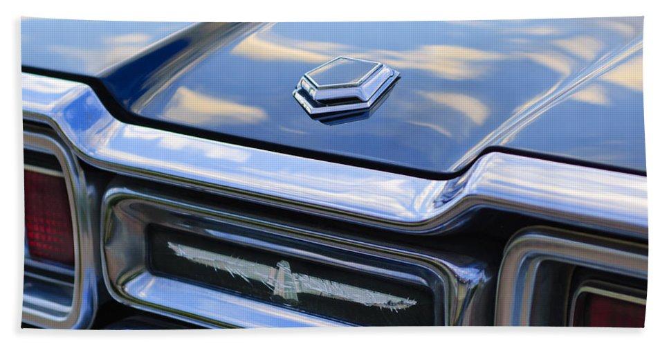 Ford Thunderbird Beach Towel featuring the photograph Ford Thunderbird Tail Lights by Jill Reger