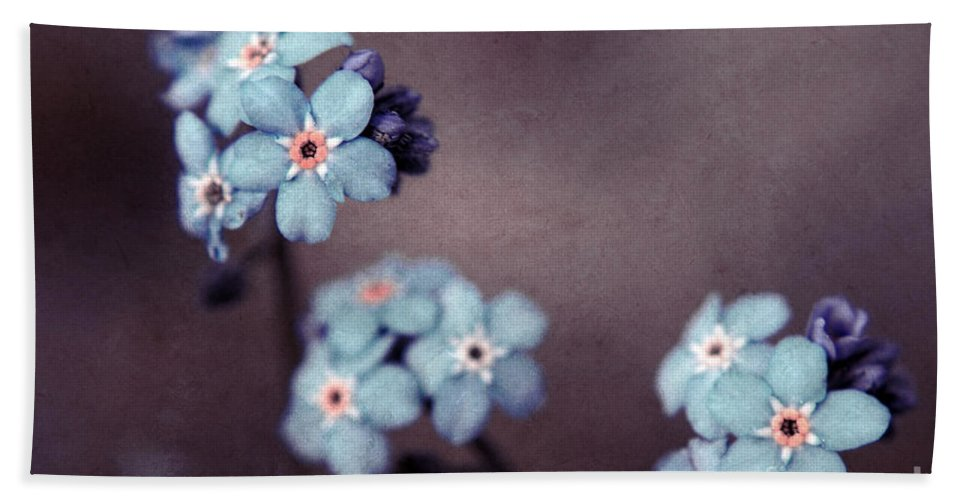 Brown Beach Towel featuring the photograph Forget Me Not 01 - S05dt01 by Variance Collections