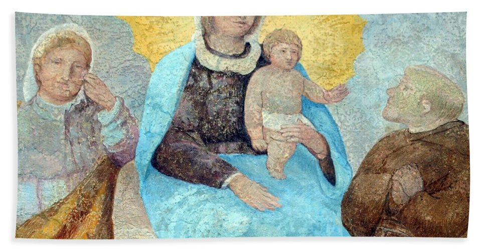 Religious Beach Towel featuring the photograph Forgotten Painting by Munir Alawi