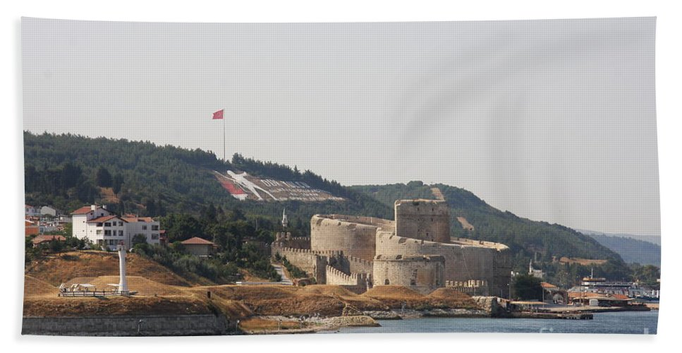 Fortress Beach Towel featuring the photograph Fortress Canakkale - Dardanelles by Christiane Schulze Art And Photography