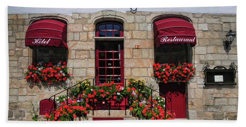 French Restaurant Beach Towel featuring the photograph French Restaurant  by Dave Mills