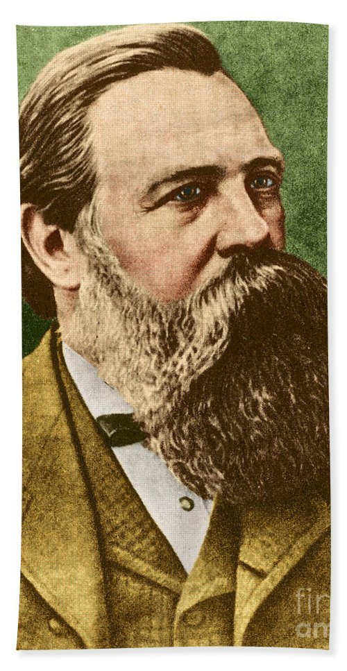 Friedrich Engels Beach Towel featuring the photograph Friedrich Engels, Father Of Communism by Photo Researchers
