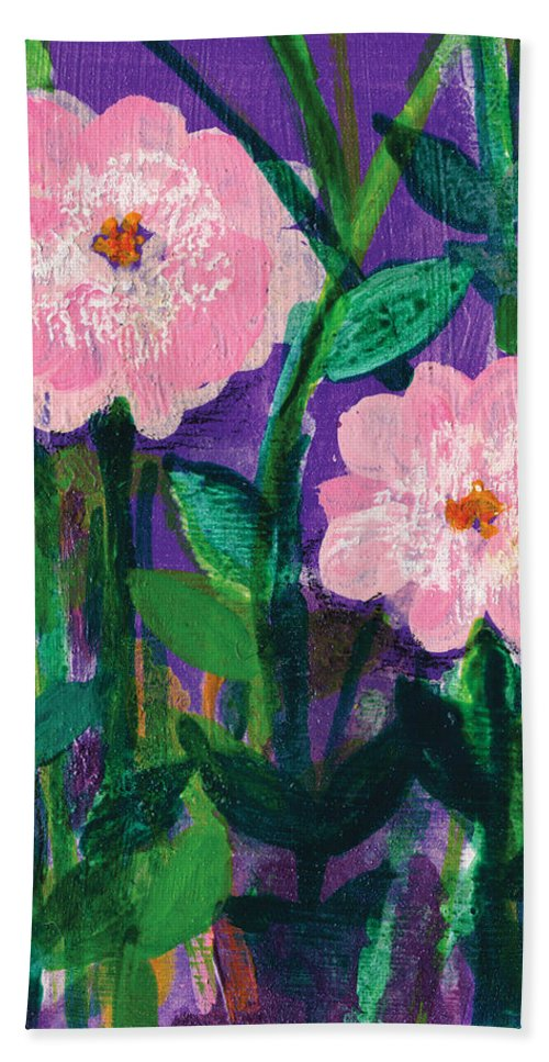 Flowers Beach Towel featuring the painting Friendship In Flowers by Ashleigh Dyan Bayer