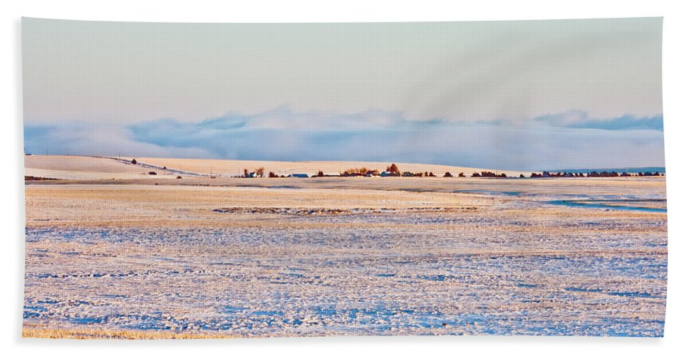 Afternoon Beach Towel featuring the photograph Frosty Morning 2 by Albert Seger