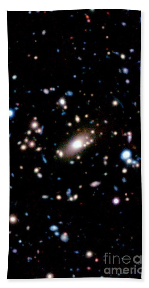 Galaxy Cluster Beach Towel featuring the photograph Galaxy Cluster by National Astronomical Observatory of Japan