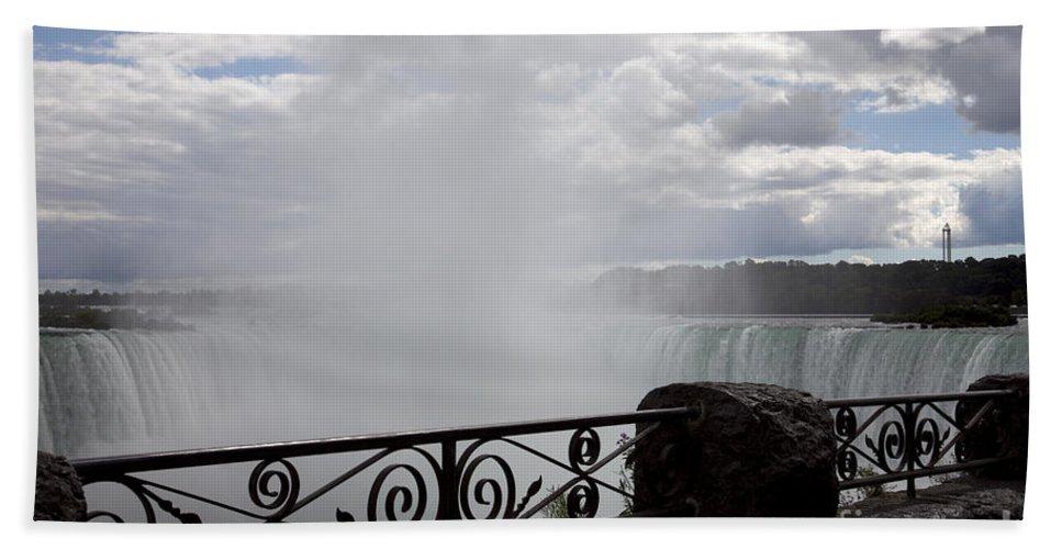 Niagara Beach Towel featuring the photograph Gate to Fall by Amanda Barcon