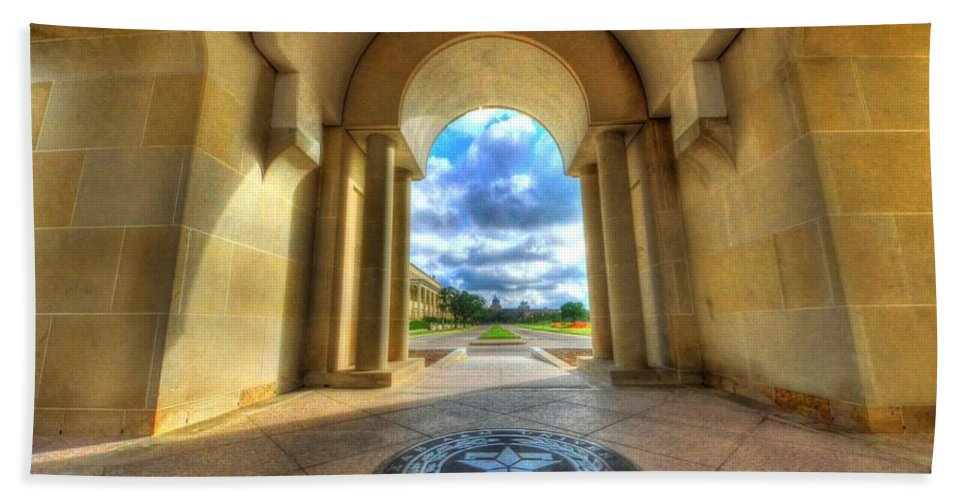 Texas A&m Beach Towel featuring the photograph Gateway To A New Life by David Morefield